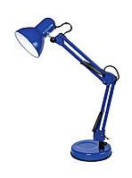Настольная лампа DELUX TF-07 E27 струбцина + подставка голубая