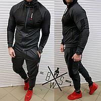 Спортивный костюм мужской Reebok Round X black ЛЮКС качества / весенний летний