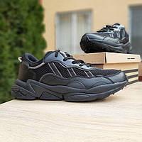 Кроссовки мужские в стиле  Adidas Ozweego  черные, фото 1