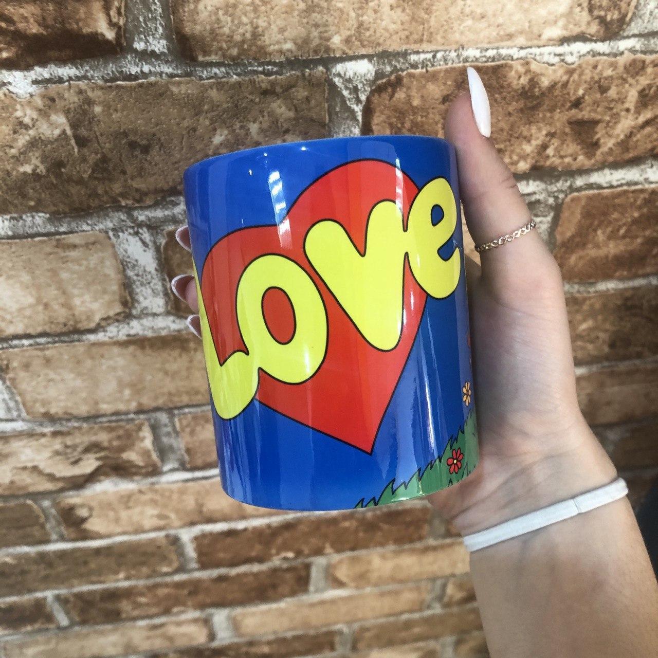 Чашка Кружка с принтом City-A 330 мл. Love is