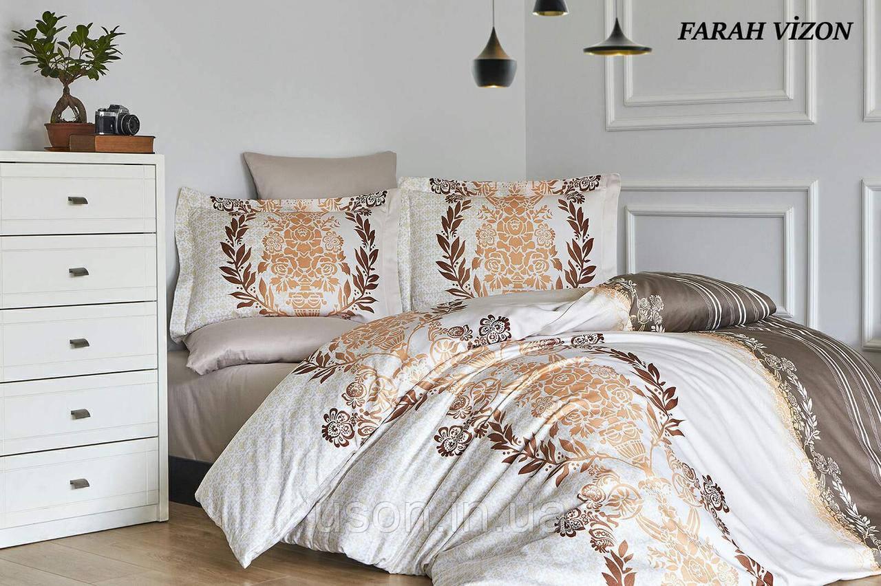 Комплект постельного белья сатин First Choice Farah Vizon