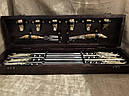 """Подарочный набор для шашлыка """"Царский улов"""" (шампура, рюмки, нож, вилка), в буковом кейсе, фото 2"""