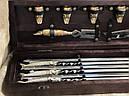 """Подарочный набор для шашлыка """"Царский улов"""" (шампура, рюмки, нож, вилка), в буковом кейсе, фото 5"""