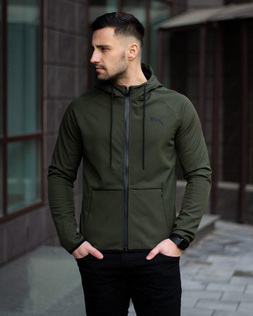 Куртка П*ма софт шелл хаки