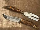 """Подарочный набор для шашлыка """"Царский улов"""" (шампура, рюмки, нож, вилка), в буковом кейсе, фото 7"""