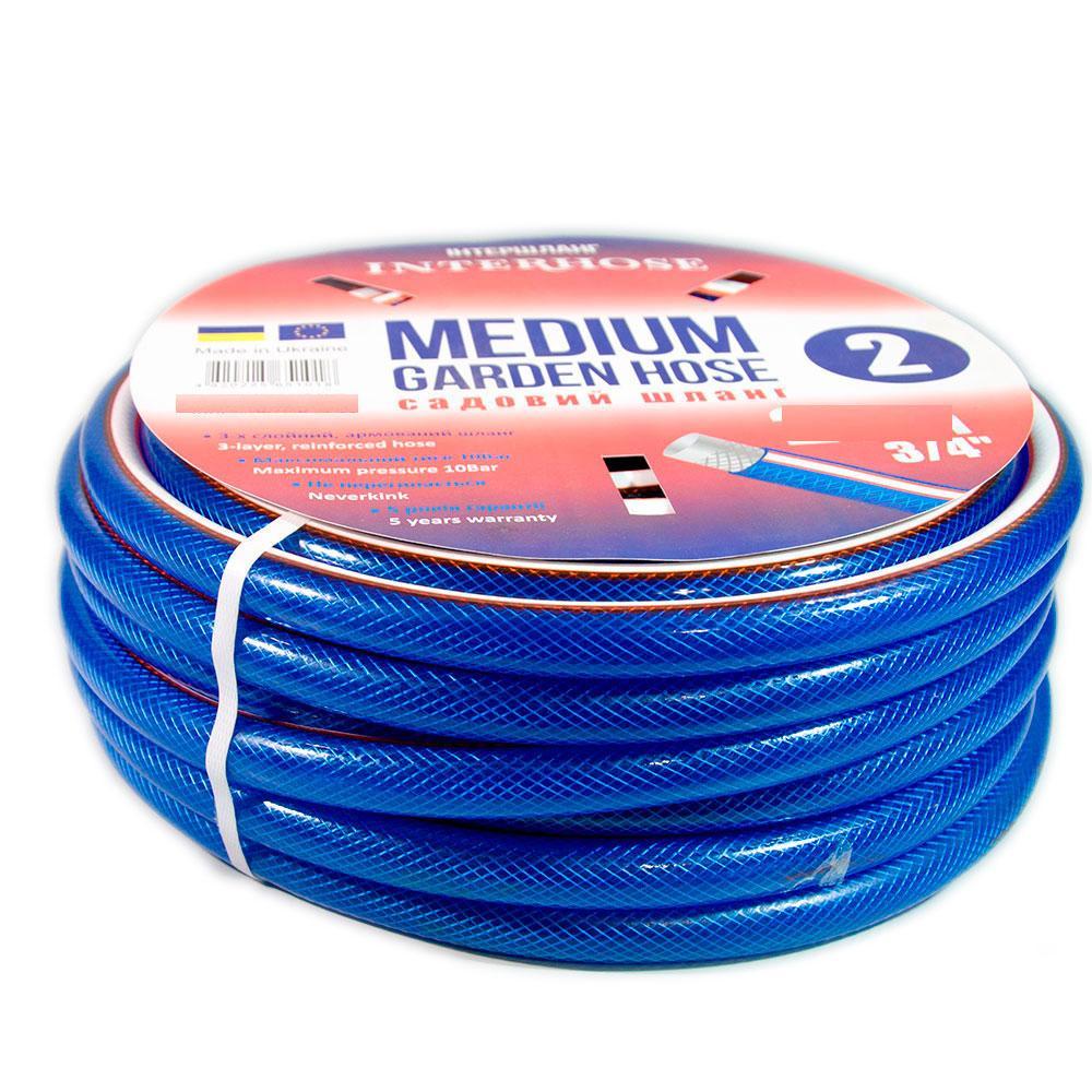 Шланг поливочный Интершланг MEDIUM-2 Blue 19 мм 20 м
