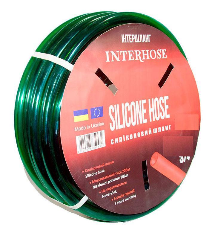 Шланг поливочный Интершланг SILCON HOSE Green 19 мм 50 м