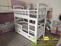 Двухъярусная кровать Эко Бук (Белый)