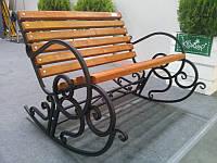 Скамья садовая Кресло-качалка кованая, фото 1