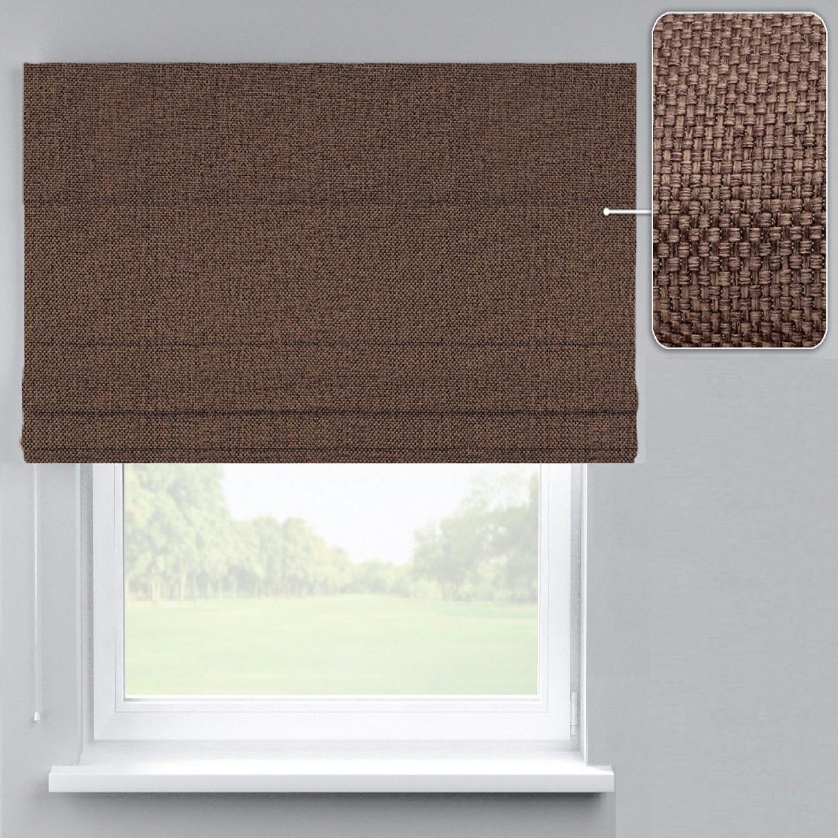 Римская штора Рогожка Димаут ореховый коричневый