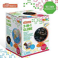 Глобус 3в1, глобус, проектор звездного неба и ночник от Little Experimenter, фото 1