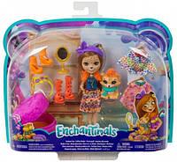 Игровой набор Enchantimals Модный наряд кукла Чериш Гепарди и Квик  Fashion Fun Cherish Cheetah