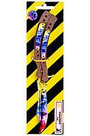Деревянный нож Бабочка в раскраске мраморный градиент