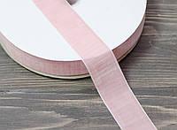 Бархатная лента 4 см. розовая, фото 1