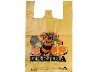 "Пакеты майка 30см 50см ""Комсерв"" Пчелка (250 шт)"