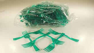 Вилка для фруктов зеленая 250 шт 12 см Юнита