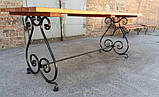 Стол кованый Пикник 2х0,86м (тр.15х15), фото 2