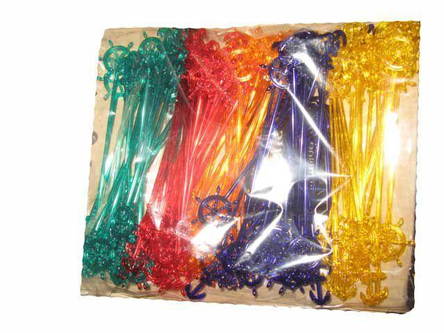 "Мешалка пластиковая для коктейля ""Штурвал"" 19.0см(100шт) Юнита (1 пач)"