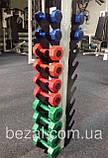 Стійка для фітнес гантелей настінна на 10 шт, фото 2