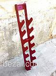 Стійка для фітнес гантелей настінна на 10 шт, фото 4