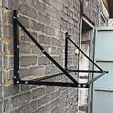 Полиця для зберігання змінних коліс настінна розсувна (глібов 500мм), фото 3