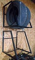 Полка для хранения шин и колес настенная, Сварная разборная, глуб 60 см, на 2 колеса, фото 1