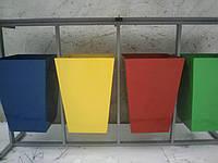 Урна для раздельного сбора мусора Трапеция 4 ведра с навесом