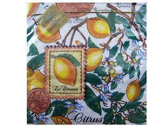 Декоративные столовые салфетки (ЗЗхЗЗ, 20шт) Luxy  Лимоны