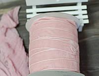 Бархатная лента 2,5 см. розовая