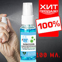 Санитайзер для кожи рук (антисептики) 100 мл. En`vie Lab SANITIZER MAX