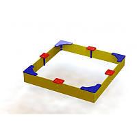 Песочница с угловыми сиденьями из фанеры малая, фото 1