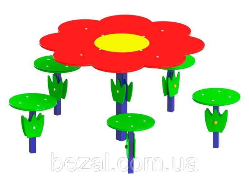 Столик Поляна (Квітка) з сидіннями