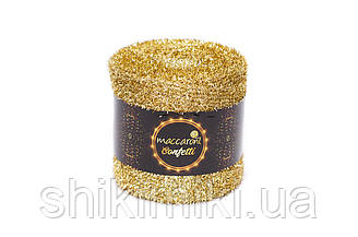 Фантазійний шнур Maccaroni Confetti, колір Золото темний