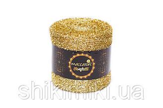 Фантазийный шнур Maccaroni Confetti, цвет Золото темное