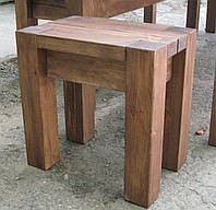 Табурет Мебель садовая из натурального дерева  Альфа, фото 1