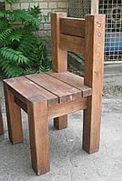 Стул садовый из натурального дерева  Альфа, фото 1