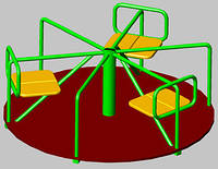 Карусель для детской площадки с сиденьями БК – 715К