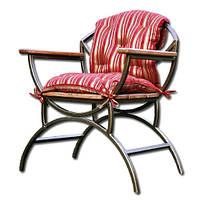 Кресло садовое металлическое
