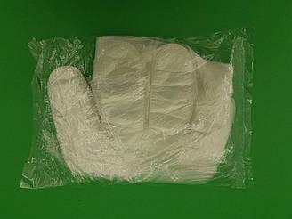 Полиэтиленовые одноразовые перчатки 100шт (1 пач)