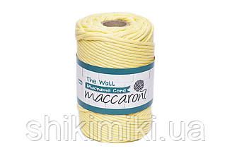 Эко шнур Macrame Cord 5 mm, цвет Желтый
