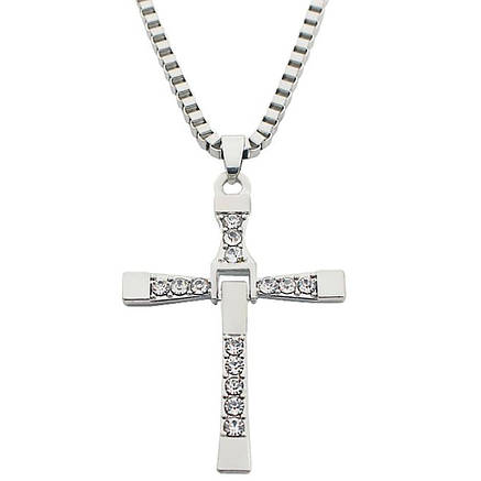 Крест Доминика Торетто с цепочкой Серебро, фото 2