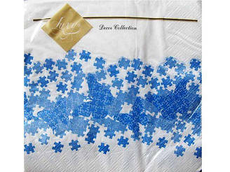 Красивые салфетки для декупажа (ЗЗхЗЗ, 20шт) Luxy  Пазлы
