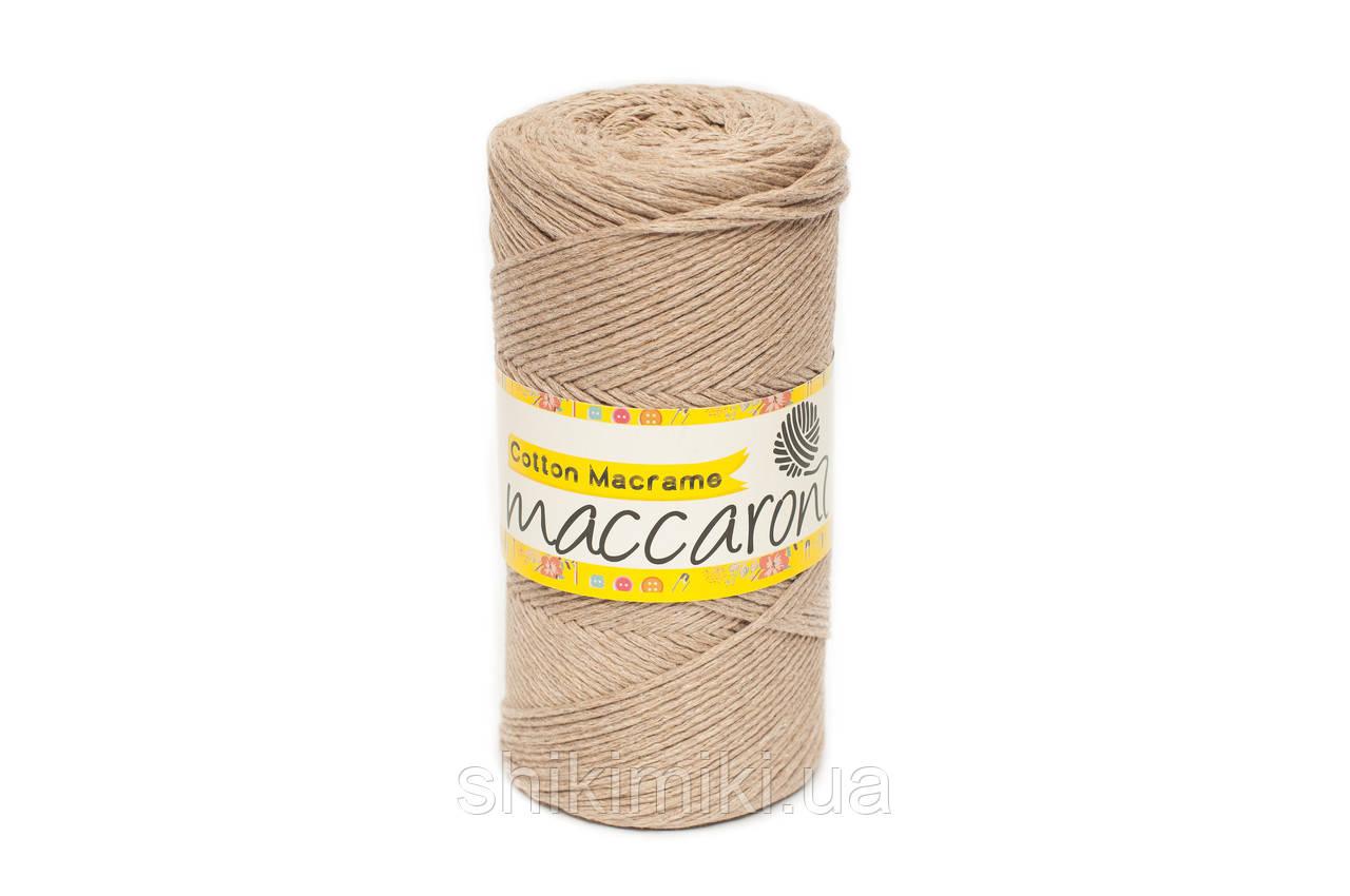 Эко Шнур Cotton Macrame, цвет Темная Пудра