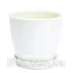 Вазон керамический белый ВК 13