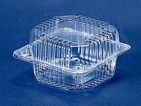 Упаковка для кондитерских изделий пластиковая ПС-8 V500мл 110мм 105мм 58мм уп 50 штук