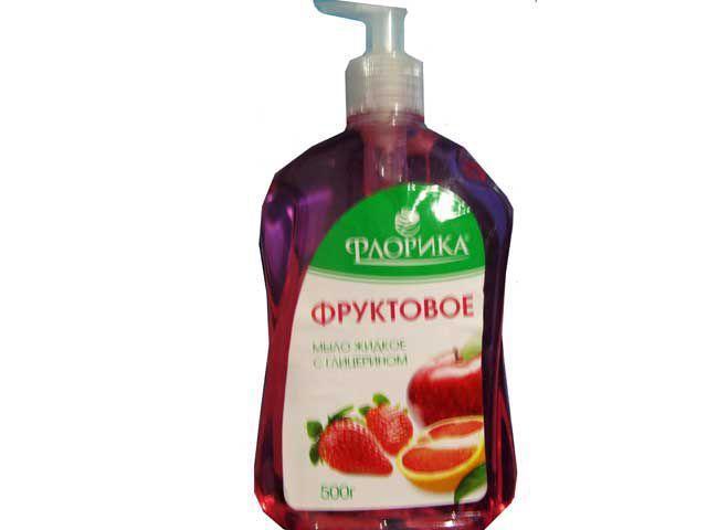 """Мыло-гель """"Флорика"""" 500гр Фруктовое (курок) (1 шт)"""