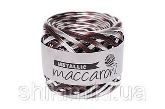Трикотажная пряжа Maccaroni Hologram Metalliс, цвет Шоколадный пломбир