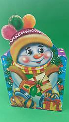 Новогодние коробки под конфеты, Снеговик в шапке