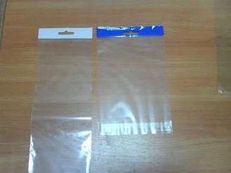 Пакет прозрачный с евро подвесом и липкой лентой 10см 9,5см 25мк (1000шт)