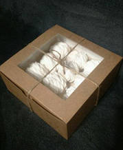 Коробка для солодощів 17*17*8 бура см